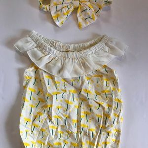 Other - Buttercup Bubble Romper & Bow